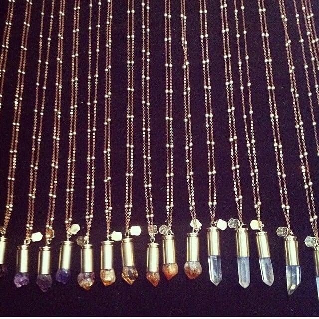 Image of CNP Satellite necklace. Quartz