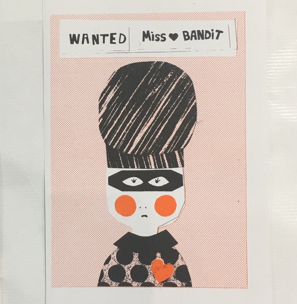 Image of Miss Love Bandit A5 Riso Print
