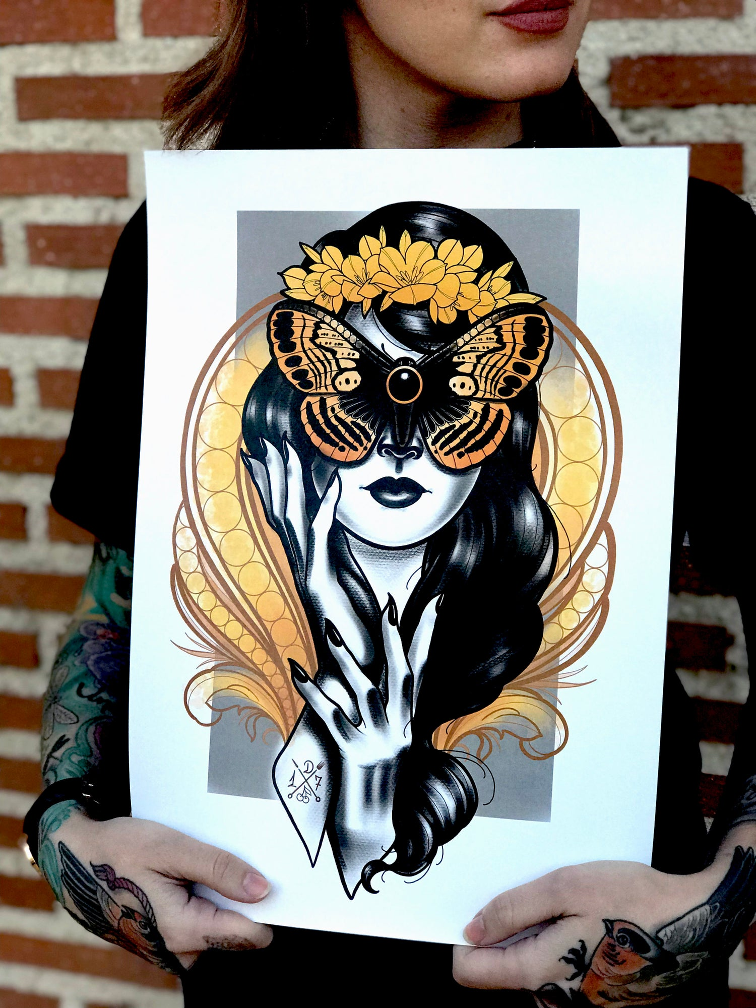Image of BUTTERFLY WOMAN PRINT
