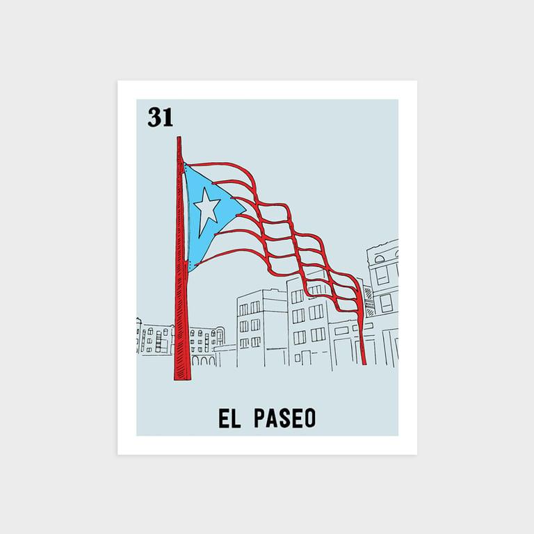 Image of El Paseo Print