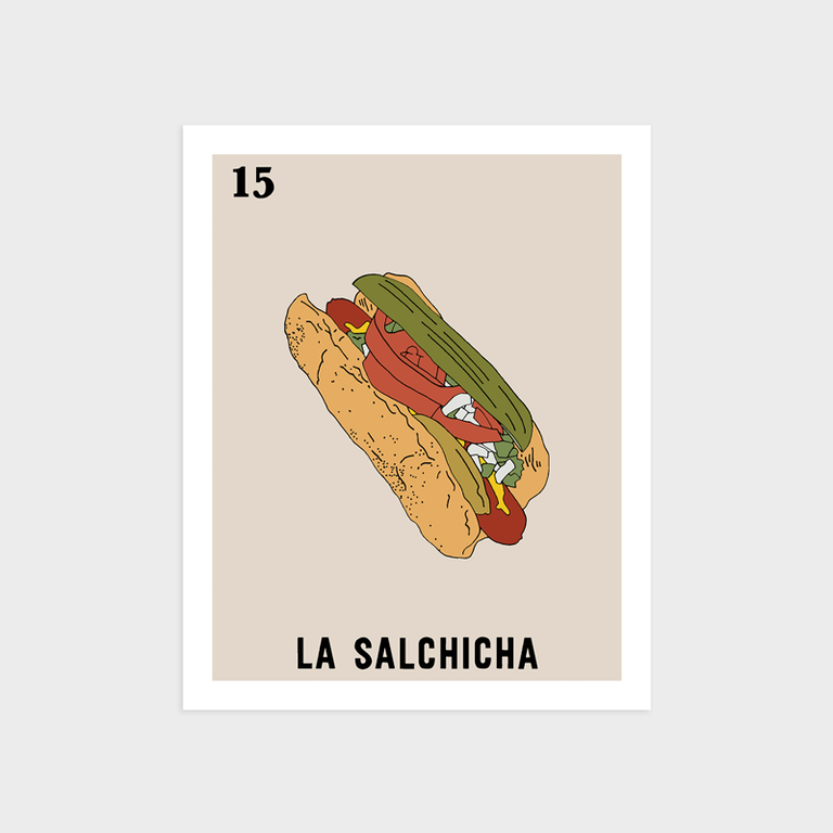 Image of La Salchicha Print