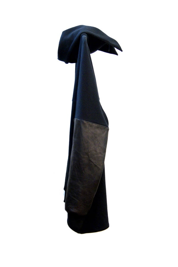 LEATHER KIMONO JUMPER