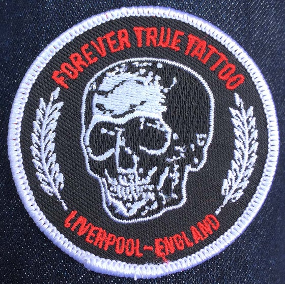 Image of Forever True ~ Skull small embroidered patch