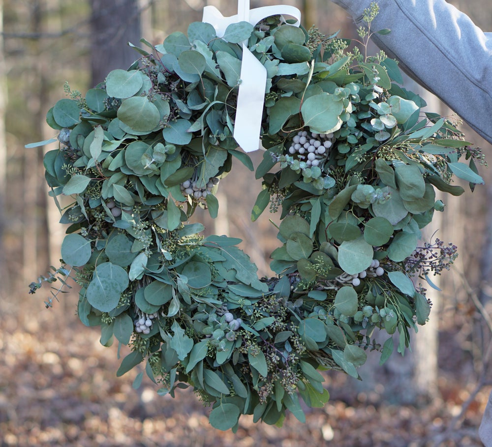 Image of Wild Flora Farm Holiday Wreath Workshop: December 16, 2018