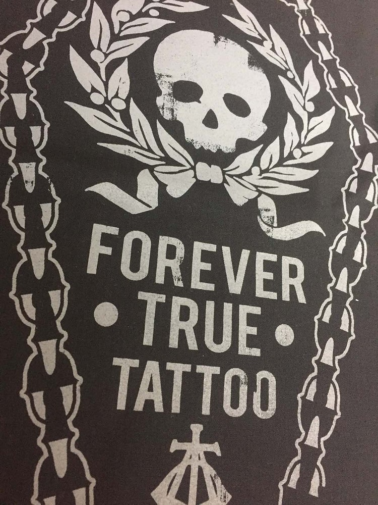 Image of Forever True Coffin Back Patch