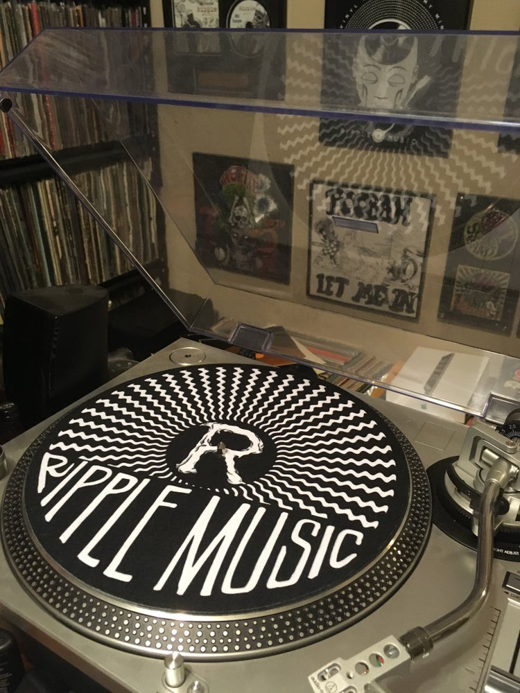 "Image of Ripple Music Slipmat ""Soundwave Logo"""
