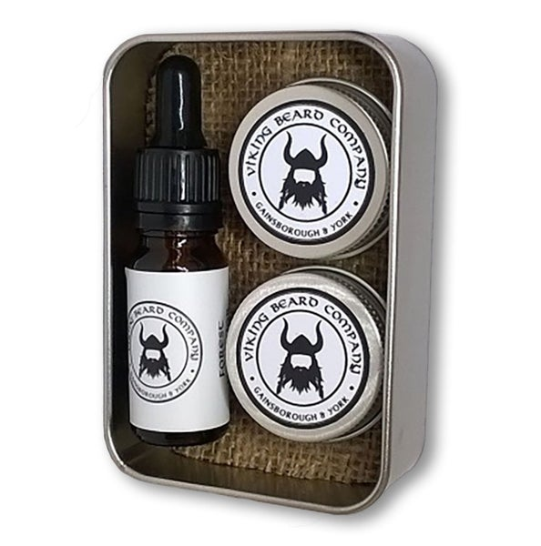 Image of Beard Oil, Beard Balm & 'Tache Wax Gift Set