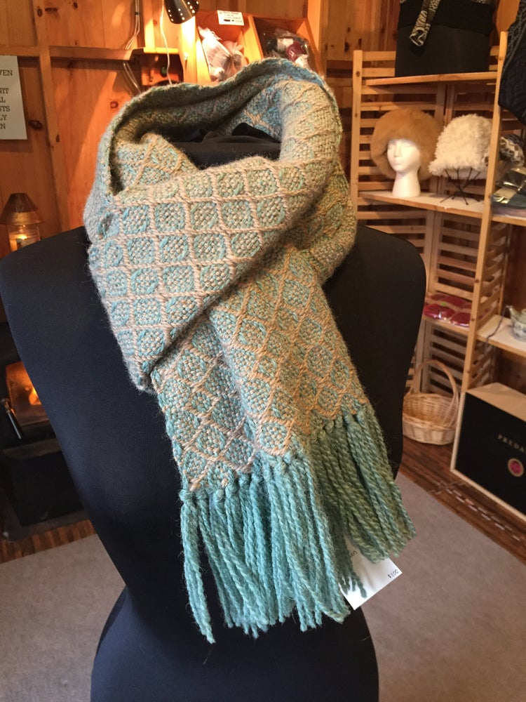 "Image of ""Bean Craft"" Hand woven wool scarf"