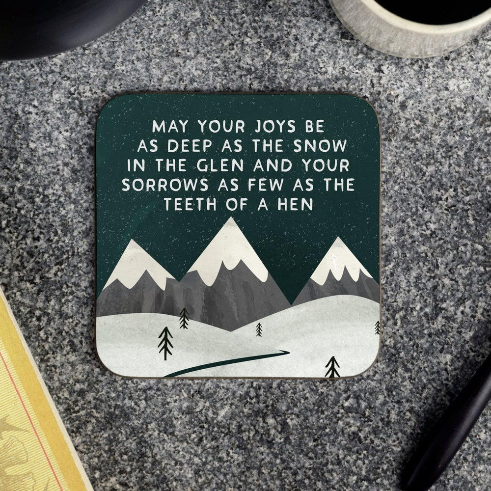 Image of May your joys (Coaster)