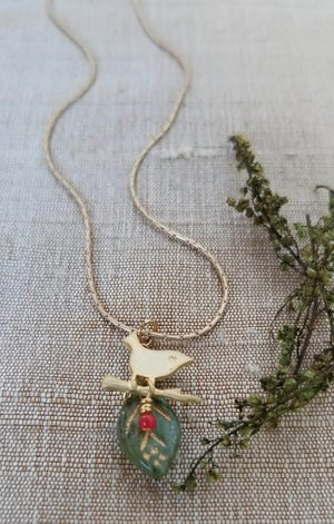 Image of Chickadee Necklace (Silver or Gold)