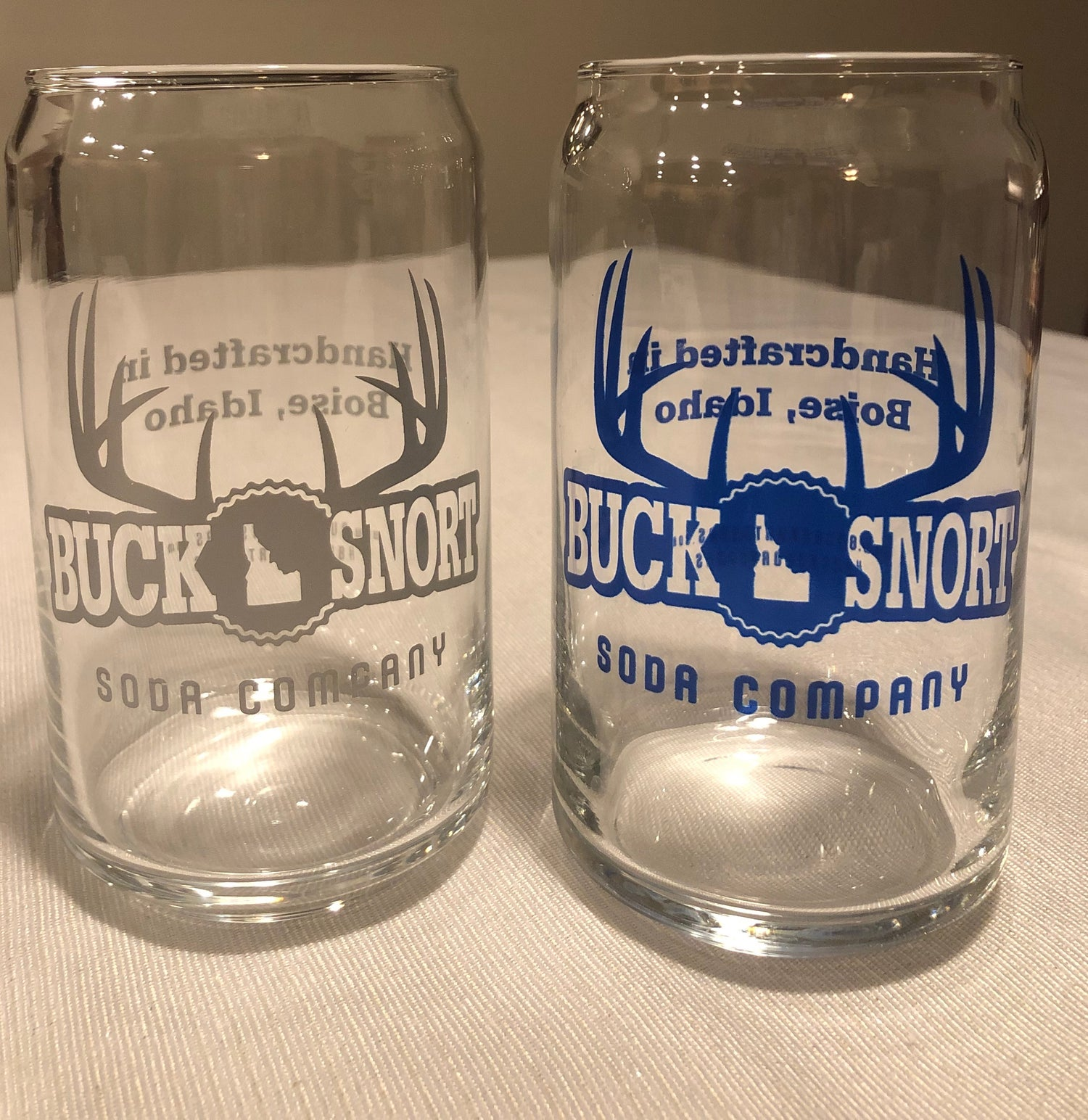 Image of BuckSnort Soda Can Shaped Glasses