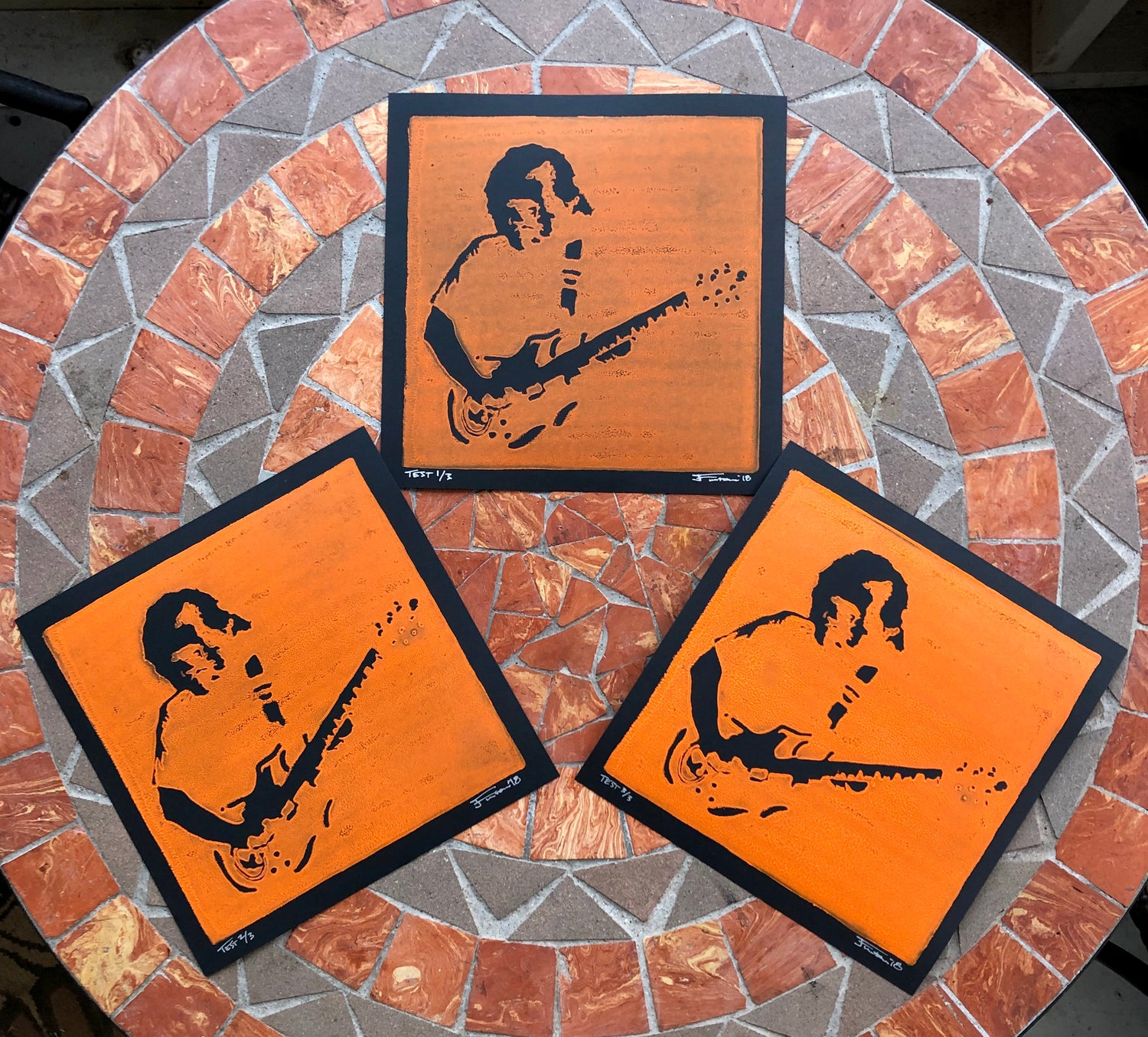 Image of Jerry Garcia test prints