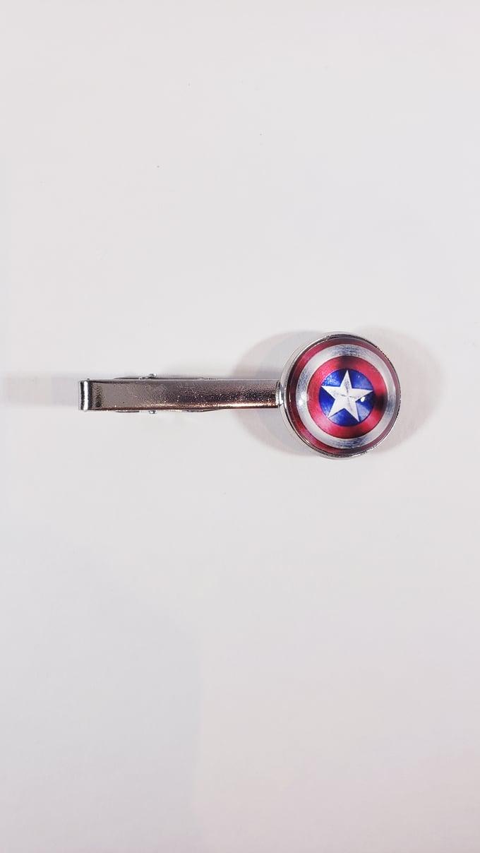 Image of Captain America Tie Bar