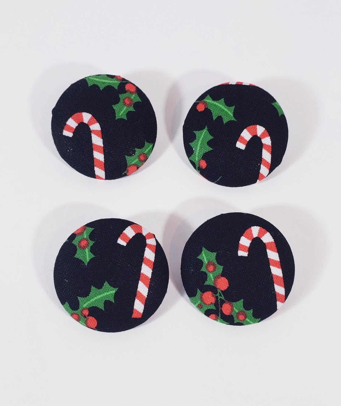 Image of Candy Cane Button Earrings