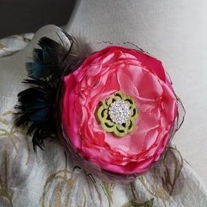 Image of Pink Carnation Floral Brooch