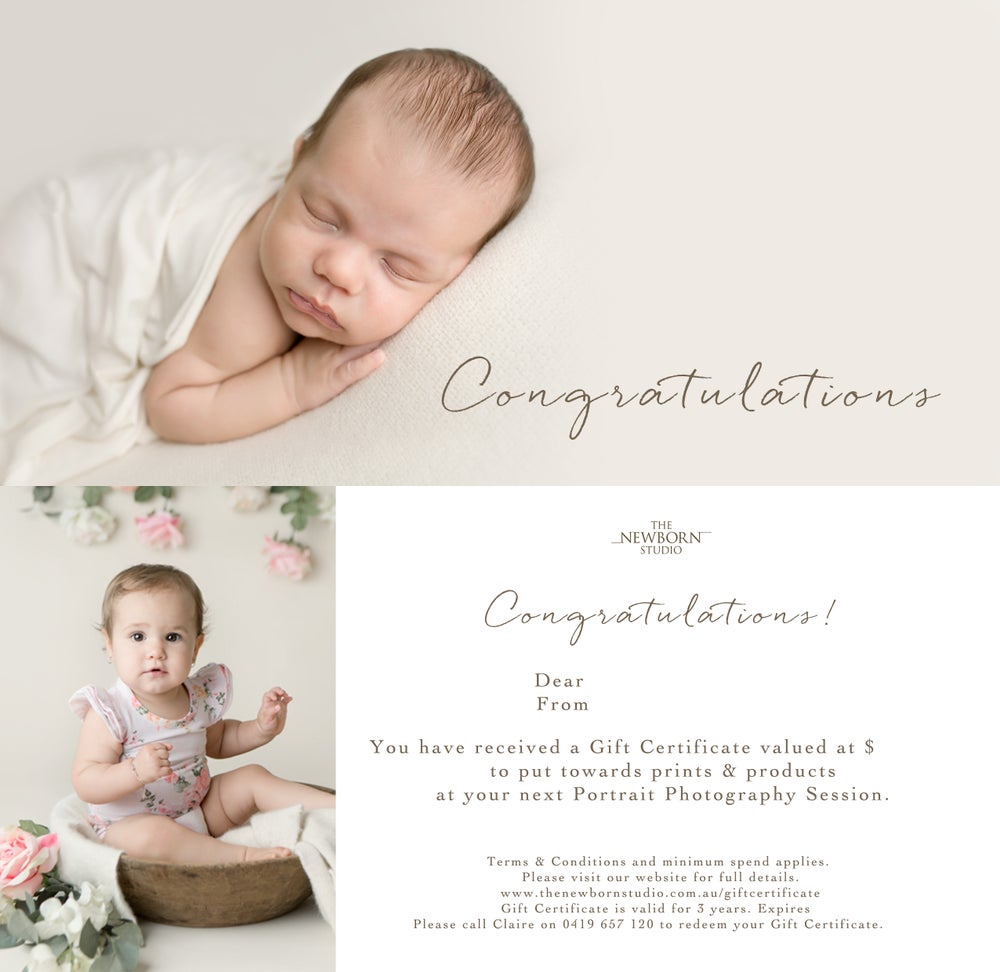 Image of Gift Certificate starting at $50
