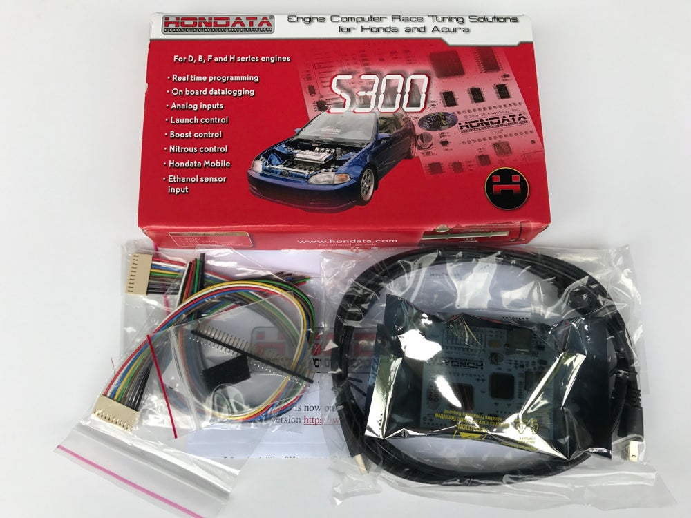 Image of Hondata S300 V3 Sealed Box with Frames, Keychain, Decals B16 B18 D16 H22 Brand New