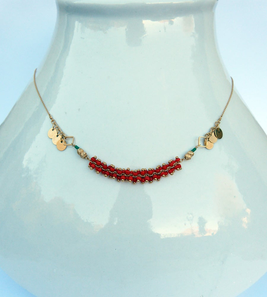 Image of Collier Overnight - Rouge