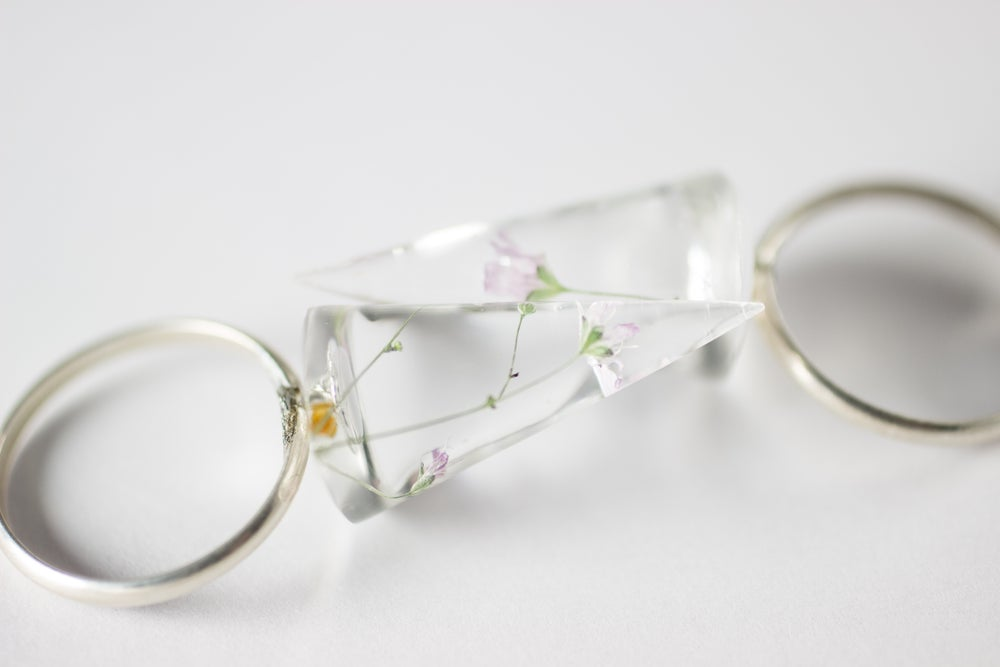 Image of Pink Baby's Breath (Gypsophila rosea) Rings