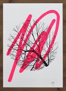 "Image of ""Awaken"" - sérigraphie - Enfants Sauvages - fluo pink Ed."