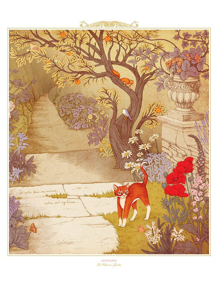 Image of Le Carnet Rouge (The Red Book) / Le Chat au Jardin
