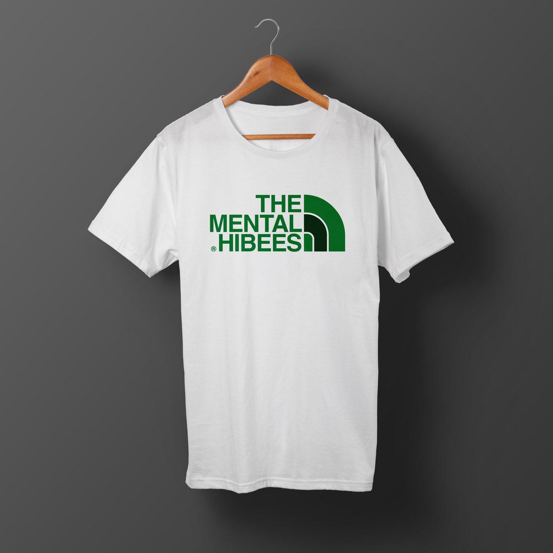 Image of X016 The Mental Hibees - Big Logo White