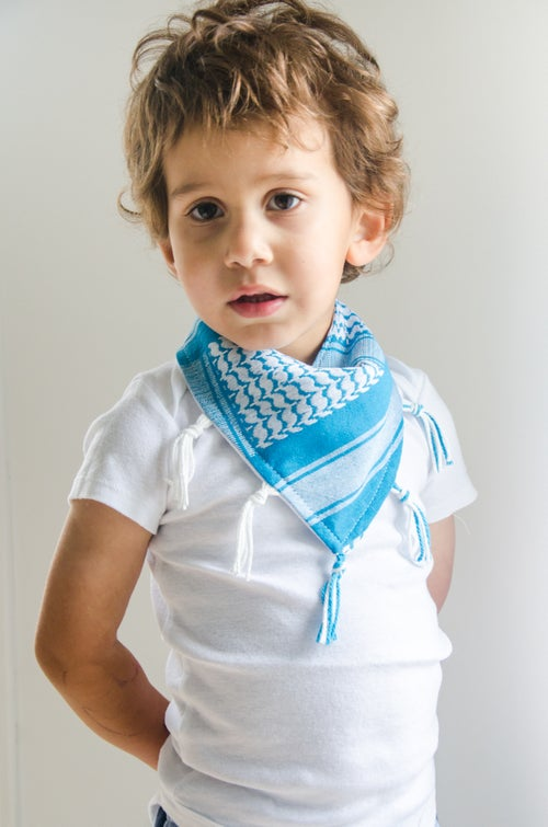 Image of Keffiyeh Bib - Blue