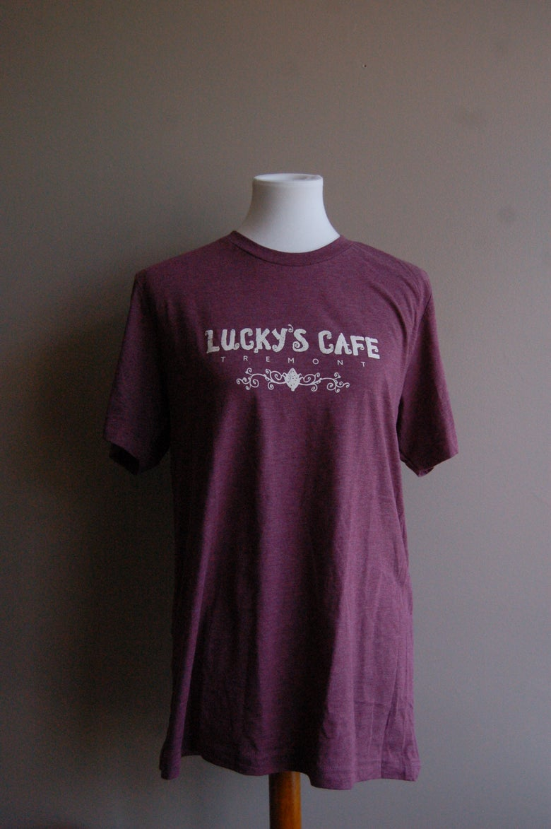 Image of Lucky's New Light T-Shirt (Purple/Maroon)