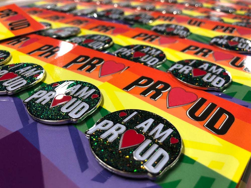 Image of I AM PROUD Enamel Pin Badge