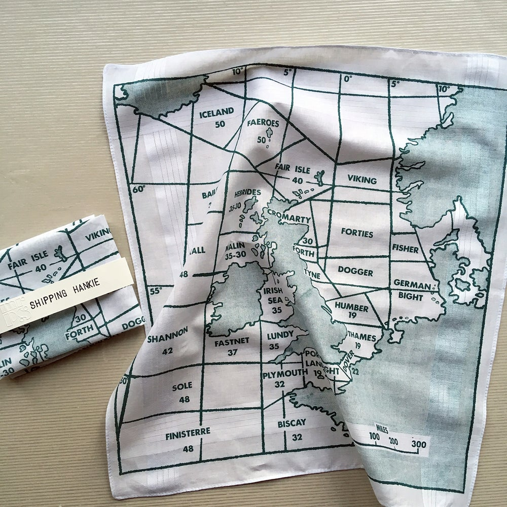 Image of Shipping Forecast map hankie
