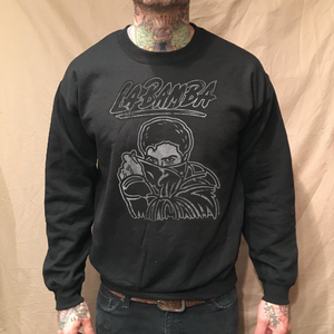Image of PEEKING BOB, BLACK CREWNECK SWEATER