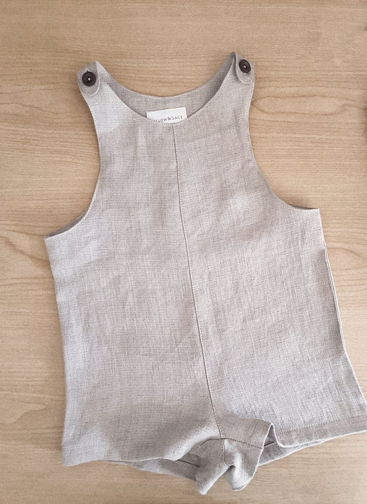 Image of Summer Overalls - Oat Marle