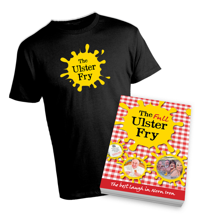 Image of Ulster Fry 'Super Fan' Bundle - Signed Book & Tee