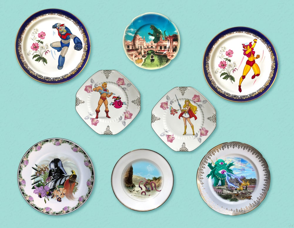 Image of Gypsy E.T. - Vintage Porcelain Plate - #0642
