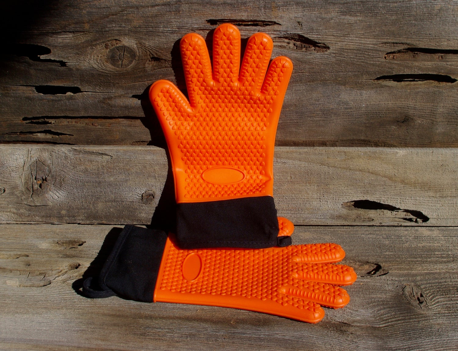 Image of Silicone Heat Resistant Grilling Gloves