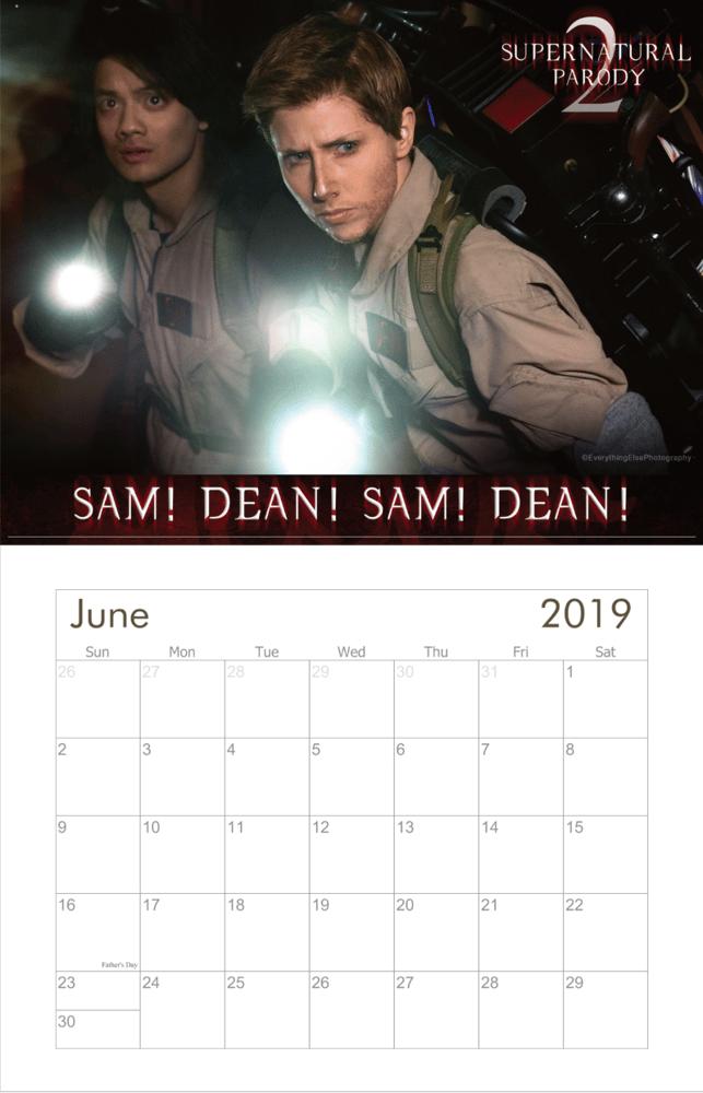 Image of Supernatural Parody 2 2019 Calendar