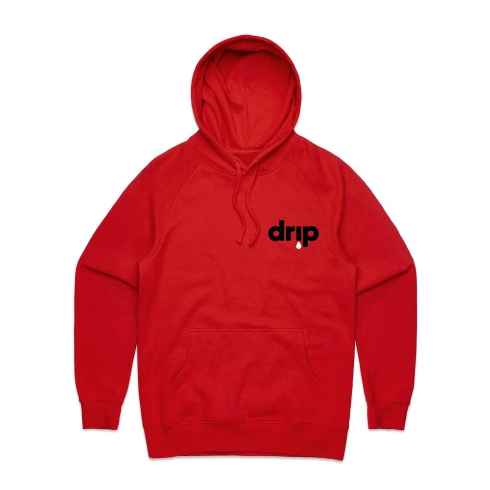 Image of ///BENJAMIN BROS® X DJ SCREAM - DRIP HOODY - RED