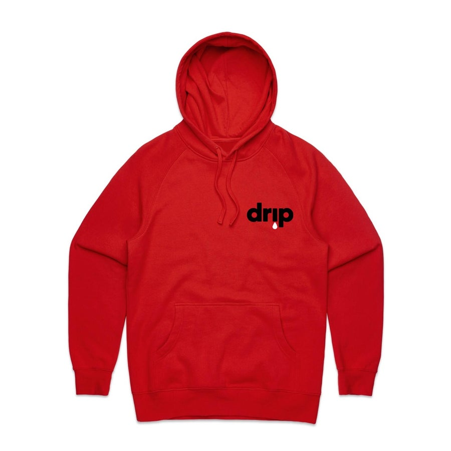 Image of ///BENJAMIN BROS® X DJ SCREAM - DRIP HOODY - RED