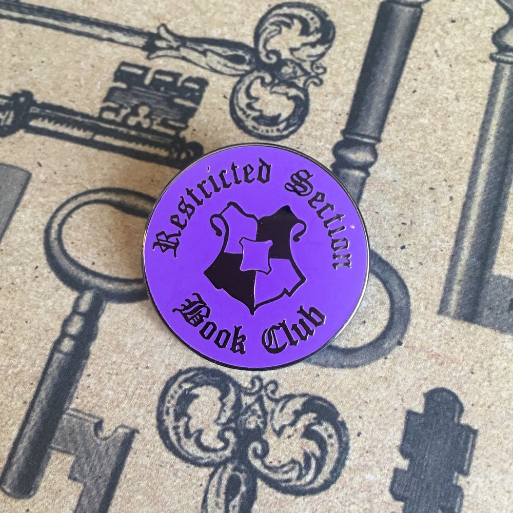 Image of Restricted Section Book Club Pin