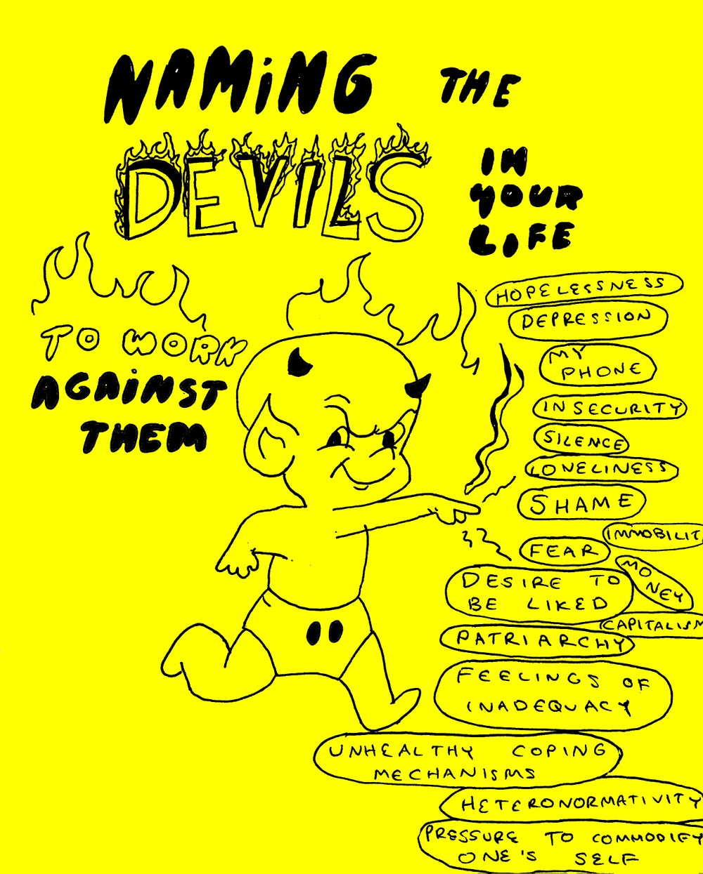 Image of Name Yr Devils tote