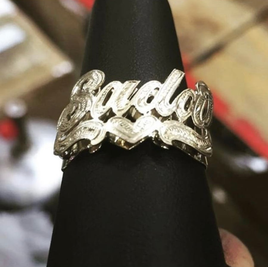 Image of Custom Name Plate Rings