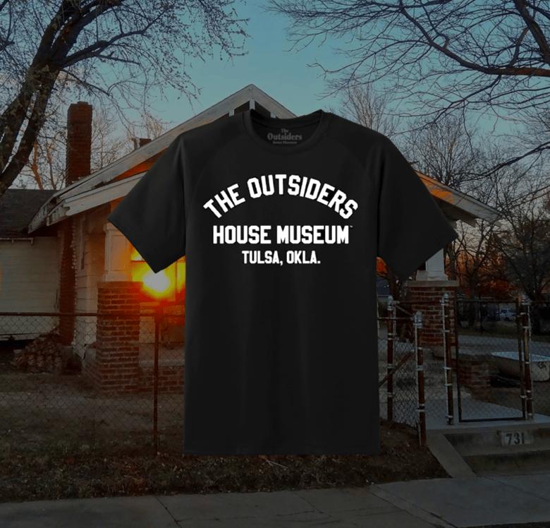 Image of The Outsiders House Museum Tulsa, Okla. (Soft) Black T Shirt.