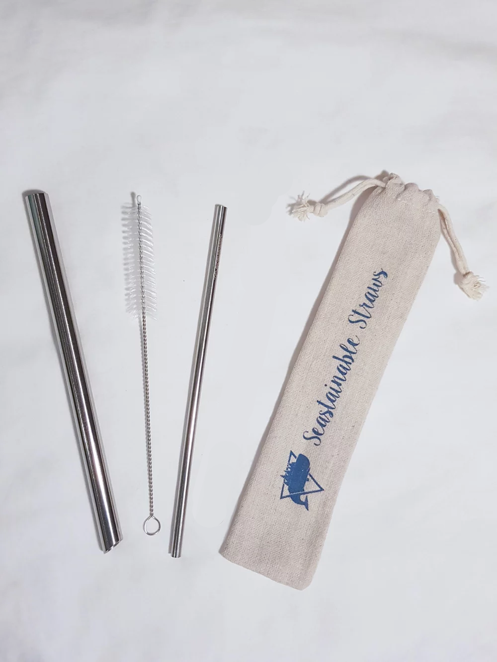 Image of Seastainable Regular Metal Straw Set (with one cleaner)