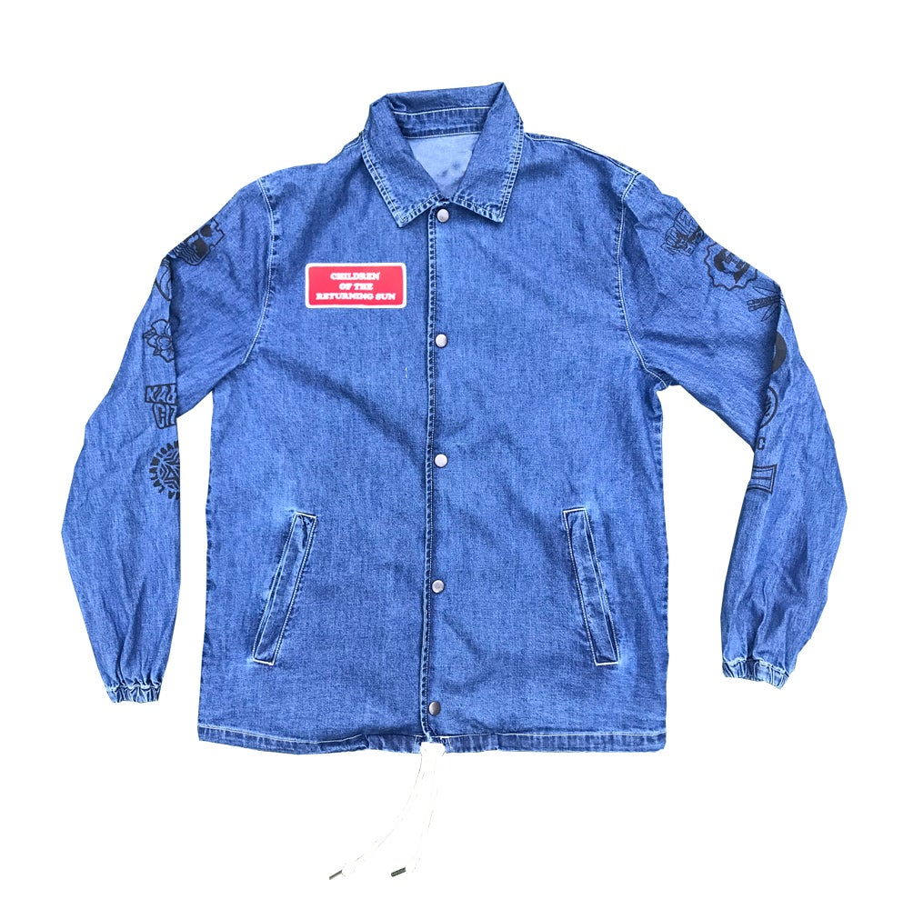 Image of Sun and Stars - Denim Coachs Jacket