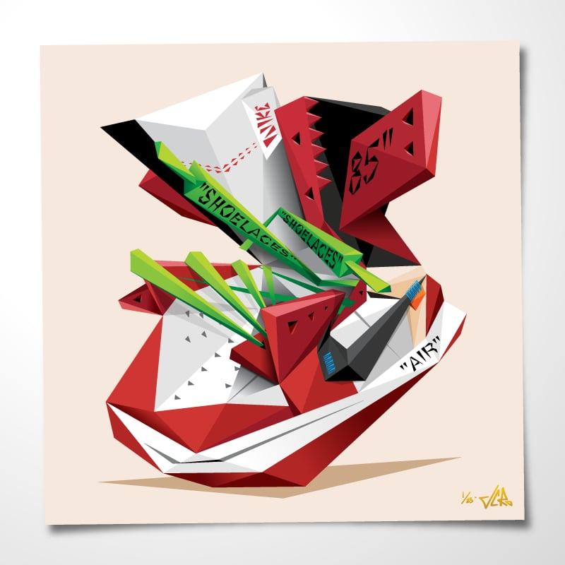 "Image of JCRo - Off-Chi'casso 20"" print (cream)"