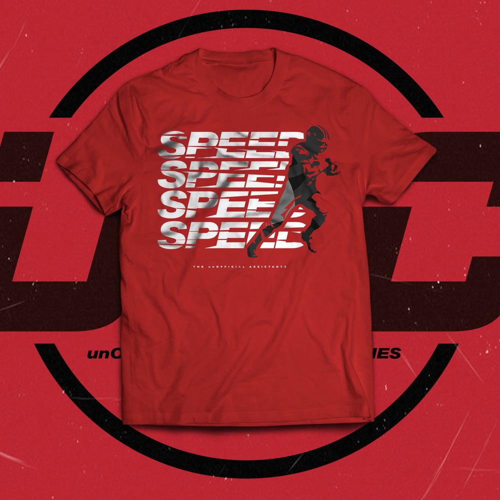 Image of Speed Speed Speed Speed Tee (RED)