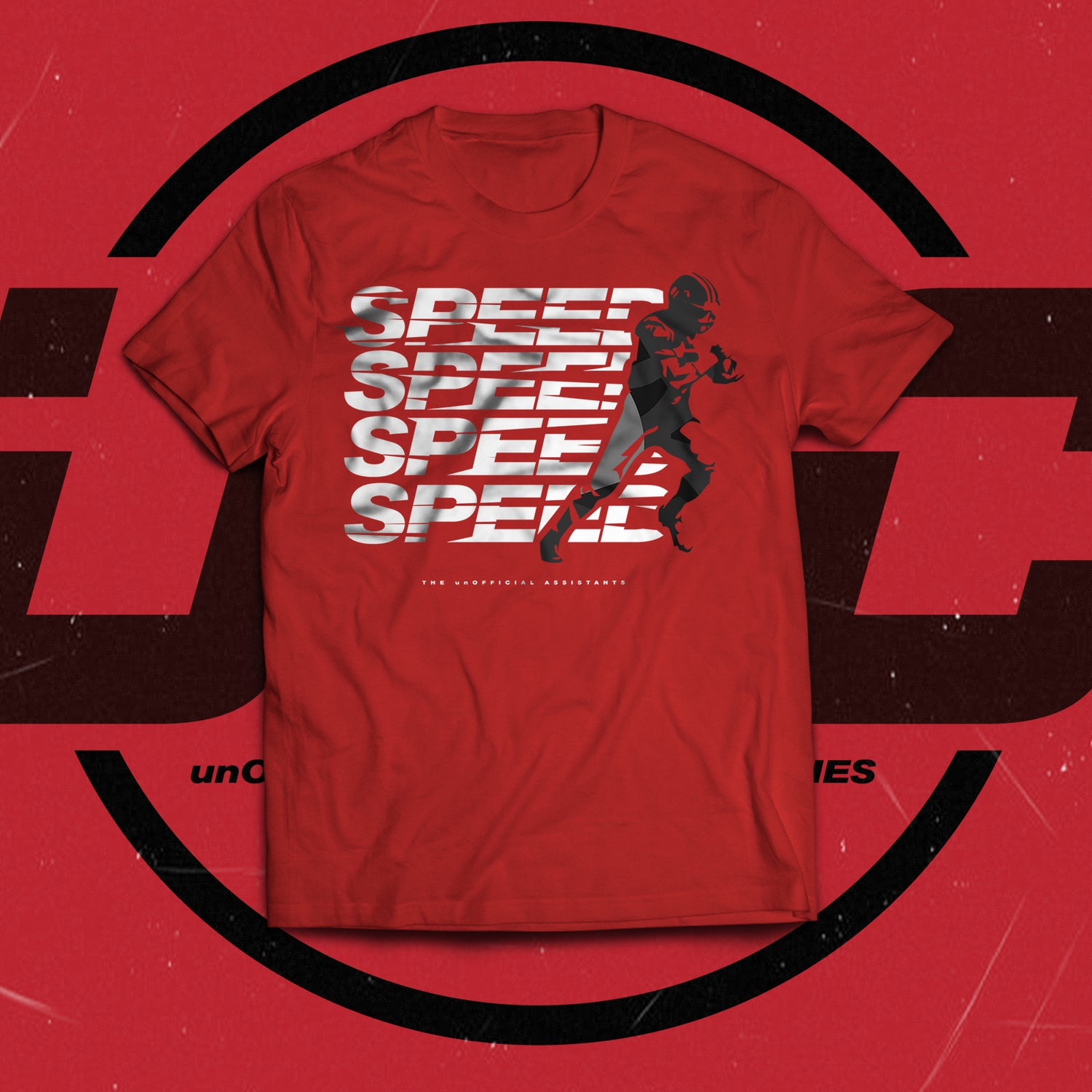 Image of Speed Speed Speed Speed Tee (RED)