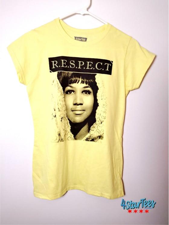 Image of Aretha R.E.S.P.E.C.T Women's Tee - Cornsilk Yellow