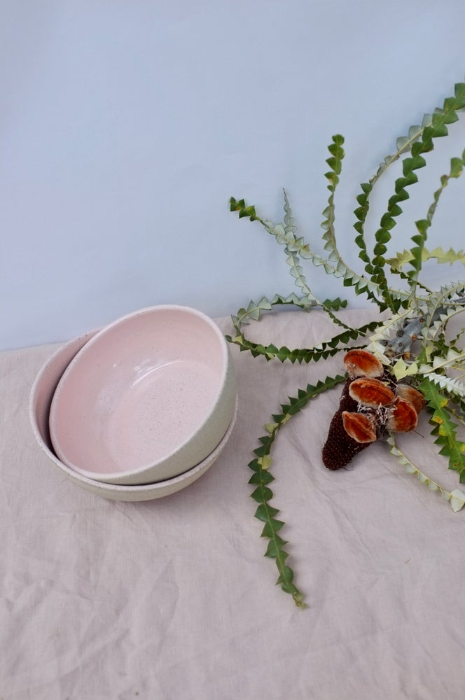 Image of Pink Speckled Bowls