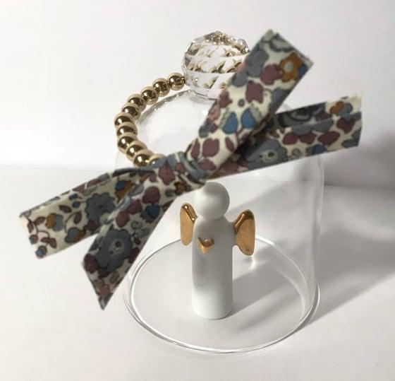 Image of Bracelet perles dorées & noeud liberty